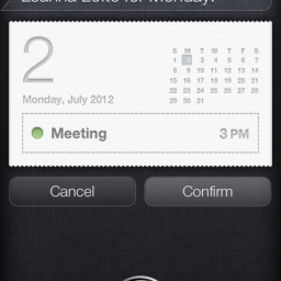Creating Events Using Siri